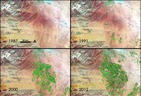 Greening of Saudi Arabia:  NASA Photos Show Kingdom Tapping non-renewable Aquifers for Farmi