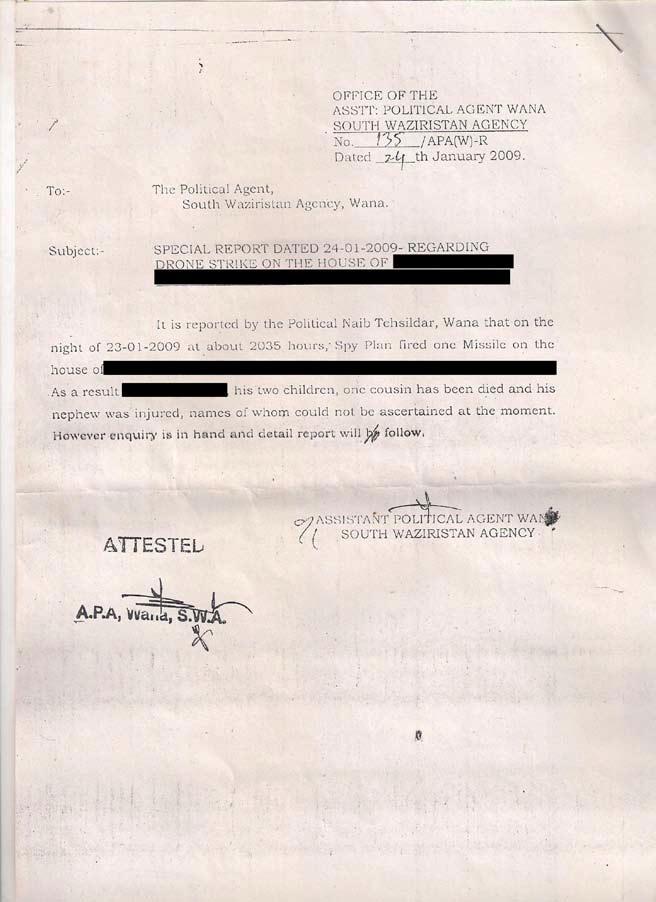 Sth Wana letter Jan 2009