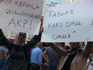 Women protesters in Taksim Square, Istanbul. photo courtesy of showdiscontent.com