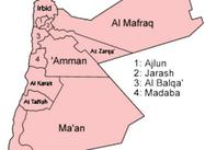 Map:  Provinces of Jordan