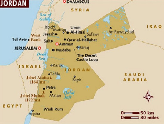 Map Of Jordan Informed Comment - Map of egypt israel jordan