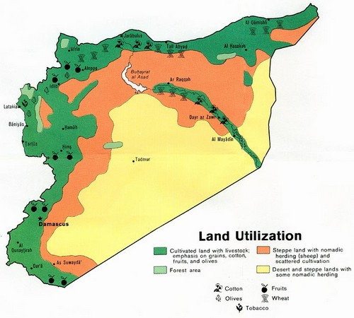 Map Syria Land Use