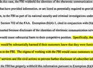 FBI admits to Protecting spying Telecoms from Lawsuits