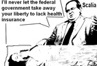 Scalia and the Uninsured Children (Cartoon)