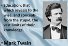 Mark Twain on Education