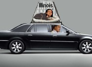 Romney Taking Santorum for a Ride in Illinois (Graphic)
