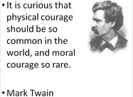 Mark Twain on Courage