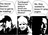 Nugent Called by Secret Service (Cartoon)