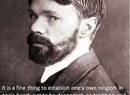It is a fine thing to establish one's own religion in one's heart … (D. H. Lawrence Poster)