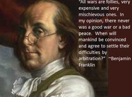 """All Wars are Follies"" (Benjamin Franklin Poster)"