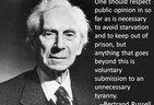 How far to respect Public Opinion (Bertrand Russell Poster)
