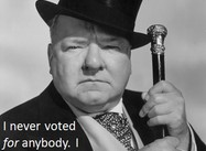 On the Right Way to Vote (W. C. Fields Poster)