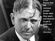 """On Democracy""… (H.L. Mencken Poster)"