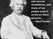 What Americans Sorely Need (Mark Twain Poster)