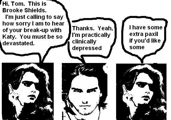 Feminist Brooke Shields-Tom Cruise Cartoon of the Day