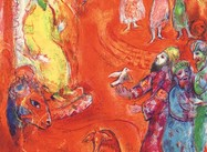 """Now the King loved science and geometry…"" (Chagall Lithograph from Arabian Nights)"