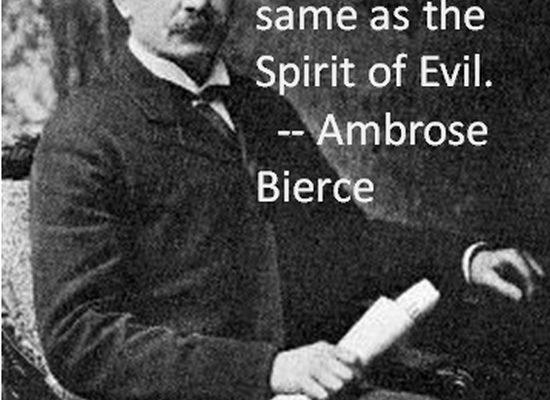 On Dogmatism (Ambrose Bierce Poster)