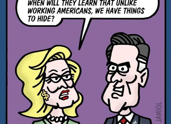 Ann Romney: No More Tax Returns! (Jamiol Cartoon)
