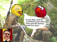 Big Bird and the Romney Games (Cartoon)