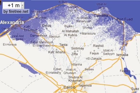Bye, Bye Alexandria:  A 1-Meter Sea Rise is Certain