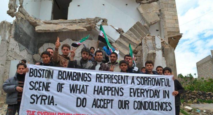 Syrian Bombing Victims send Condolences to Boston