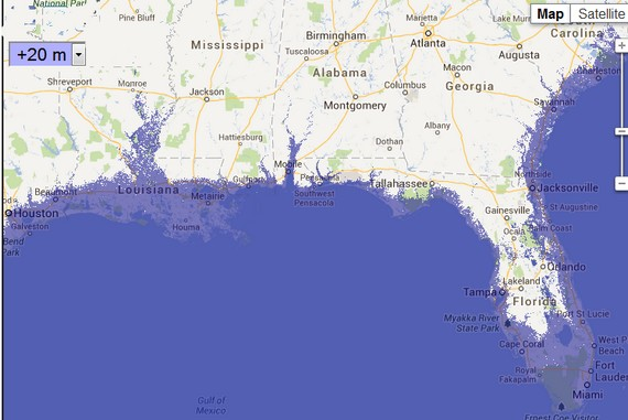 Florida Map With Sea Level Rise Verkuilenschaaij