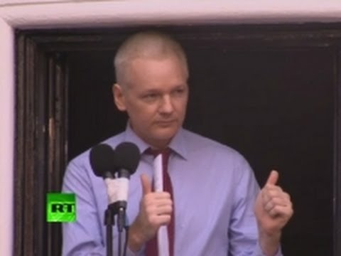 Assange Demands end of US War on Whistleblowers