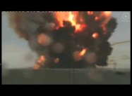 Baikonur, Kazakhstan:  Unmanned Russian rocket crashes (spectacular video)