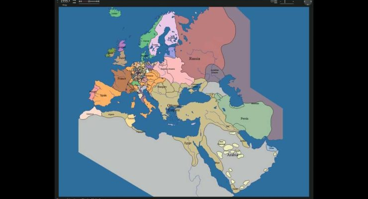The Changing map of Europe and the Middle East, 1000 – 2000 (10-min. Video)