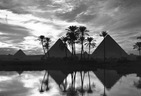 Photo of the Day:  Pyramids in Giza at Sunset
