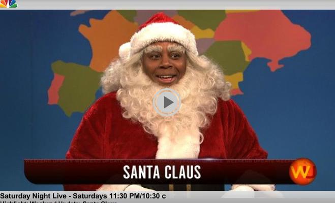 SNL:  Not only is Santa Black, but one of his Reindeers is Gay