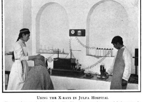 Iranian-Armenian Nurse taking an X-Ray in Isfahan, 1900 (Photo of the Day)