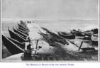 A Bridge of Boats across Frozen Tigris River, Mosul, 1903