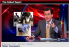 Taliban jump Shark, Kidnap alleged Spy Dog (Colbert Report)