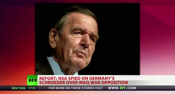 Bush ordered NSA to spy on Germany's  Schroeder over Iraq War Opposition