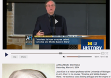 Cole @ C-Span:  Egypt and the Birth of al-Qaeda (video lecture)