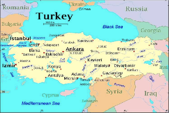 The Crimean Crisis And The Middle East Will Syria Iran Be The - Map of syria and turkey