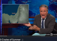 """Evacuate Where? Have you Seen [how teeny] Gaza is?"" –  Jon Stewart"