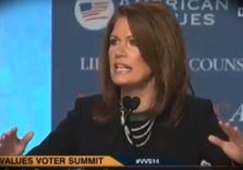 Michele Bachmann declares Christian Jihad on all Muslims