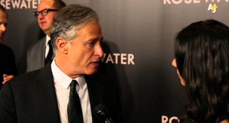 Jon Stewart Talks Press Freedom at Rosewater Premiere