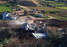 Israeli Occupation military demolishes dairy factory in Hebron, Palestinian West Bank
