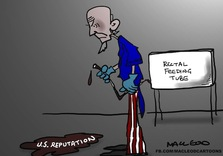 How Uncle Sam's Reputation became Icky (Political Cartoon)