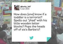 Tee tomesing, tay tomesing? UK Kindergarten Teachers must report Terrorist Toddlers