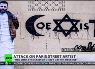 eaten over call for co-existence: French artist's religious graffiti