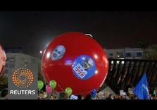 Tel Aviv: Tens of Thousands Rally against Netanyahu