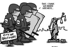 What the Police Broke in Baltimore (Political Cartoon)