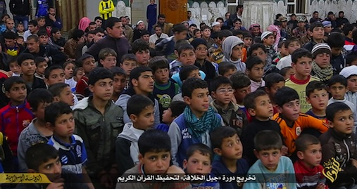 still from isis video children