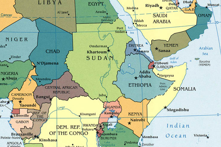 somalia east africa map