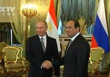 Egypt's al-Sisi and Putin Pledge Common Front against Terrorism