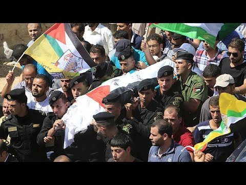 Palestine: Funeral-Protest for father of burned Baby draws Thousands